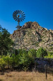 Windmill at Faraway Ranch in Chiricahua National Monument