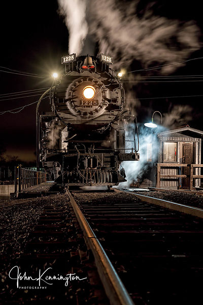 Pere Marquette #1225 on the Turntable, Owosso, Michigan