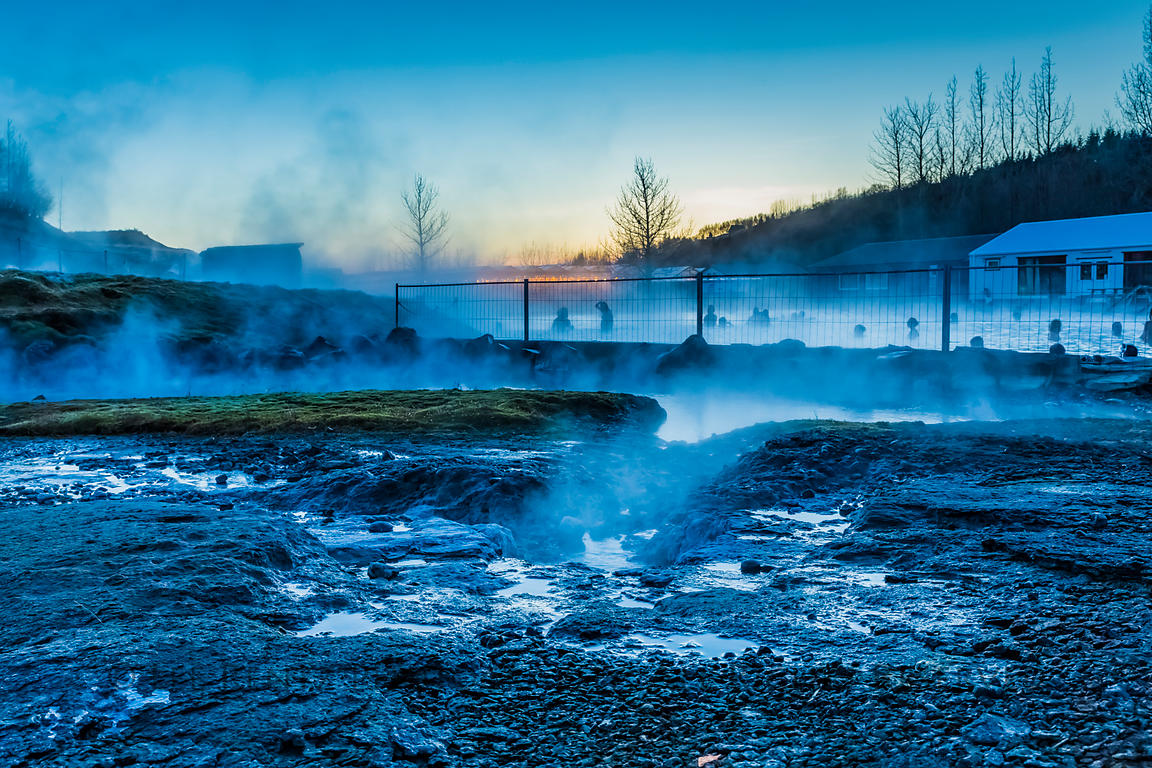 Litli Geysir at Secret Lagoon in Iceland