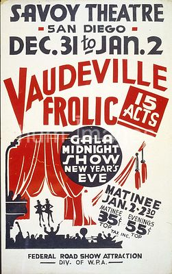 """Vaudeville frolic"" Gala midnight show New Year's eve : 15 acts ca. 1936-1941"