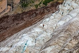 Ice Climber on Coleman Glacier