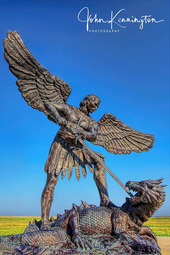 St. Michael the Archangel Slays the Dragon, Groom, Texas