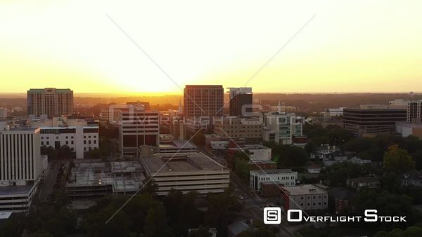 Sunset aerial video Downtown Tallahassee FL USA