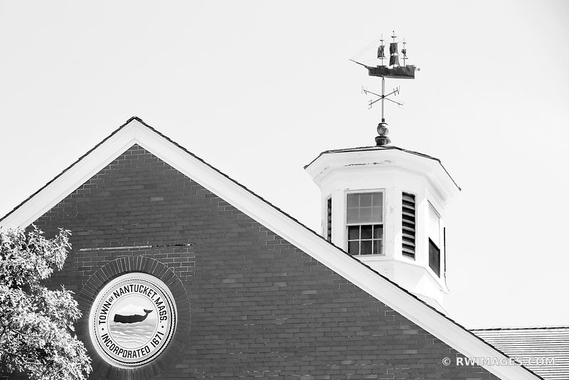 TOWN OF NANTUCKET MASSACHUSETTS BLACK AND WHITE