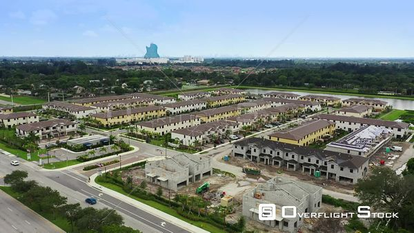 Palomino Lake by Lennar Homes Davie Florida USA aerial video near completion stage