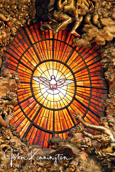 Holy Spirit Window No. 1, Saint Peter's Basilica, Vatican City (Rome)