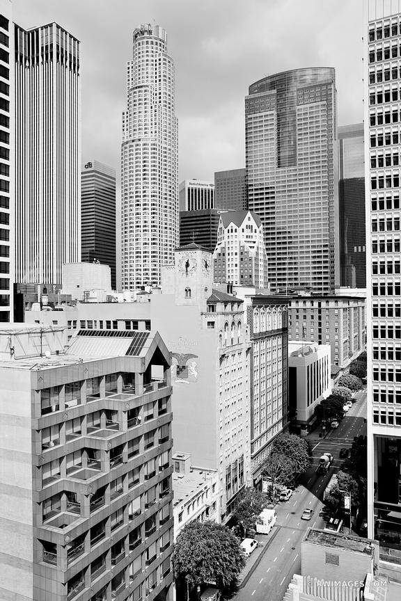 DOWNTOWN LOS ANGELES BLACK AND WHITE VERTICAL