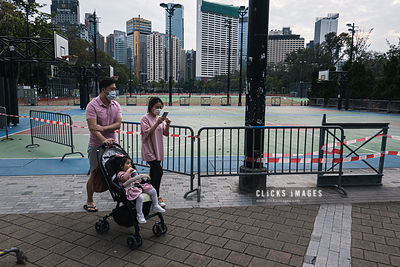 Closed Sports Ground For Social Distancing In Hong Kong