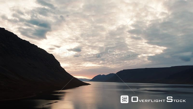 A Sunset on a Fjord in North West Iceland
