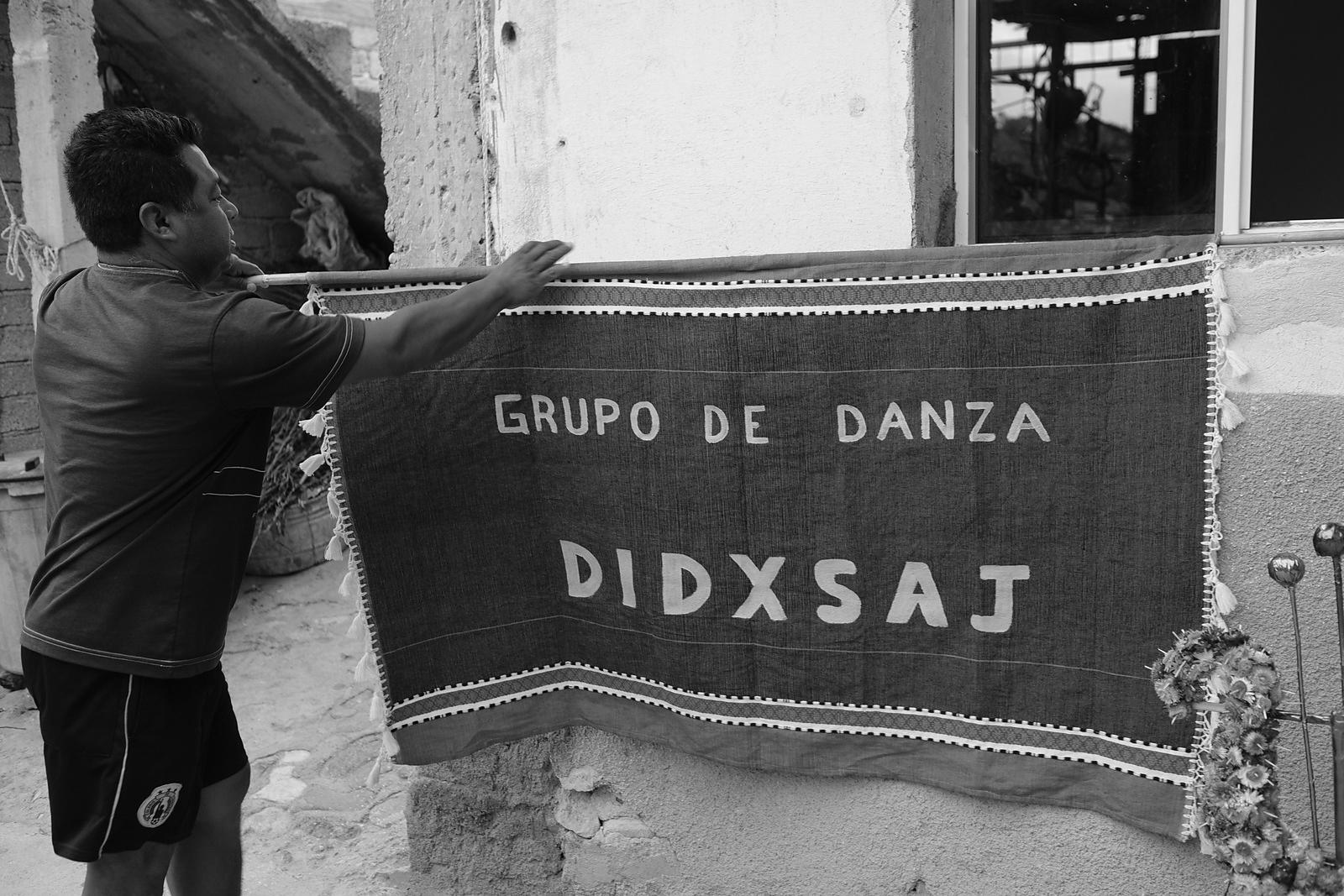 """Didxsaj"" dance group.   Didxsaj is the zapotec language name for a dialect of the language spoken in this town."