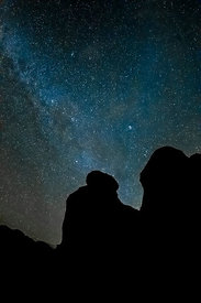 Stars Above Rock Formations of City of Rocks State Park, New Mexico