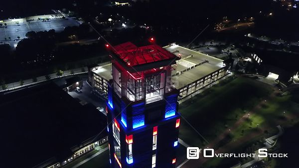 Drone Video Night Freedom Tower Lynchburg Virginia