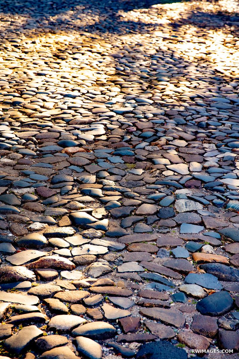 COBBLESTONES RIVERWALK AREA HISTORIC SAVANNAH GEORGIA COLOR VERTICAL