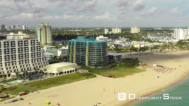 Aerial Video Coconut Grove Residences on Fort Lauderdale Beach Florida