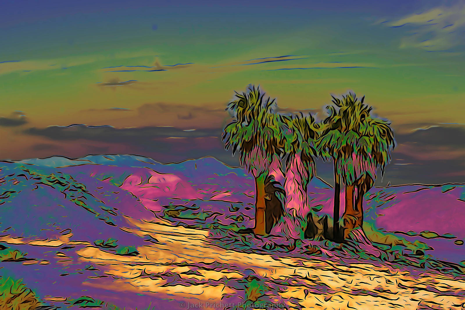 Psychedelic palms