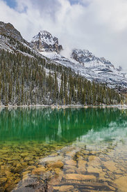 Mount Huber Viewed from Lake O'Hara in Yoho National Park