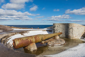 World War II Gun at Cape Spear, Newfoundland