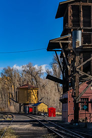 Coal and Water Towers on Cumbres & Toltec Scenic Railroad