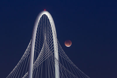 Blood Moon and Margaret Hunt Hill Bridge #2