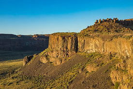 Basalt Cliffs Rise above Frenchman Coulee, Washington