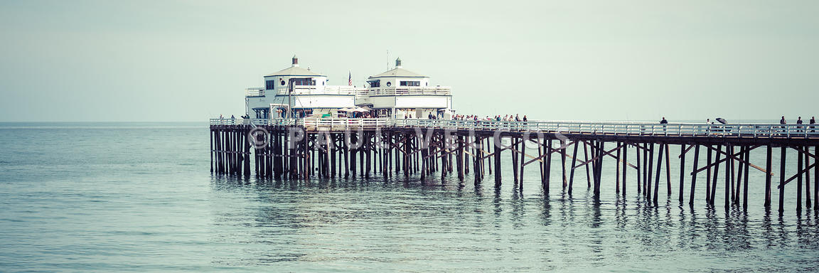 Malibu Pier Coastal California Photo