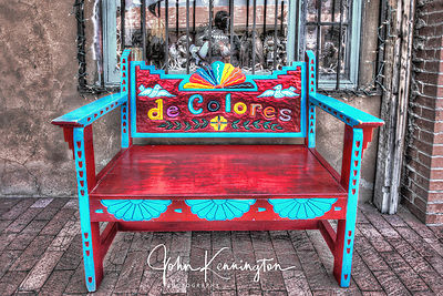 deColores Bench, Albuquerque, New Mexico