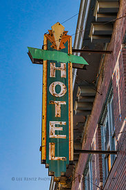 Antique Hotel Sign in Helper, Utah