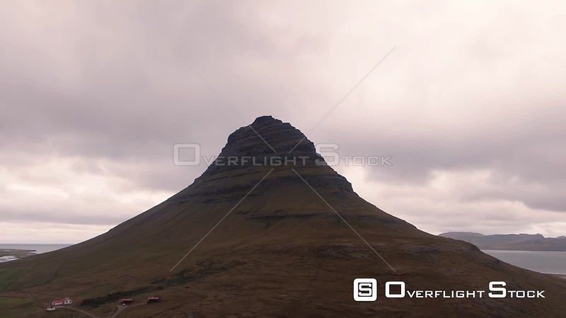 Kirkjufell Mountain in West Iceland at Sunset