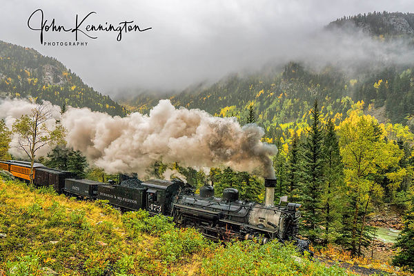 Durango and Silverton In The Clouds, Colorado