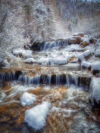 Colorado Winter Waterfall