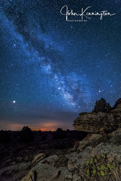 Milky Way Over Wildfires, Black Mesa, Oklahoma