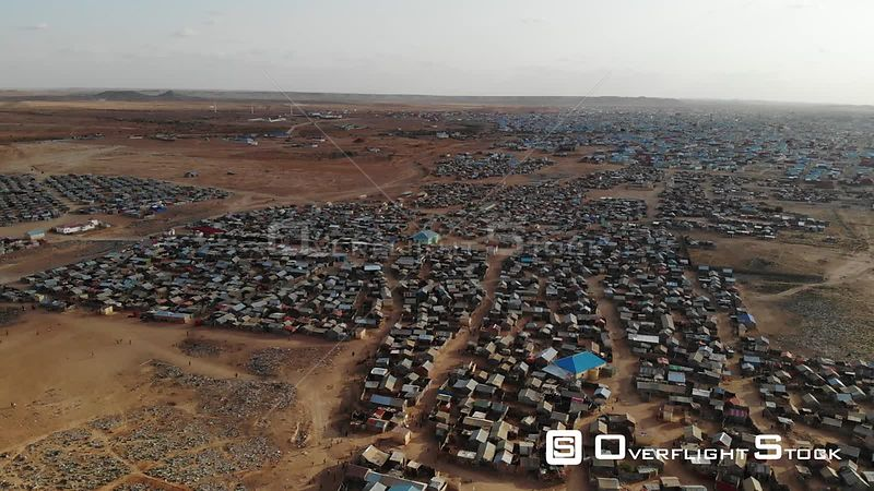 Drone Video Of Garowe IDP Refugee Camp Puntland Somalia