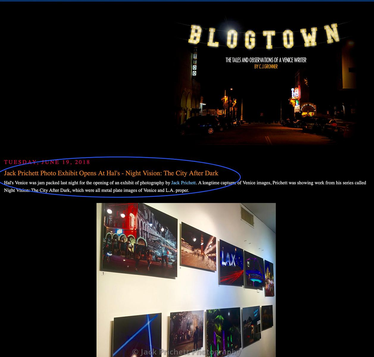 Photo show at Hal's Bar & Grill in Venice,a
