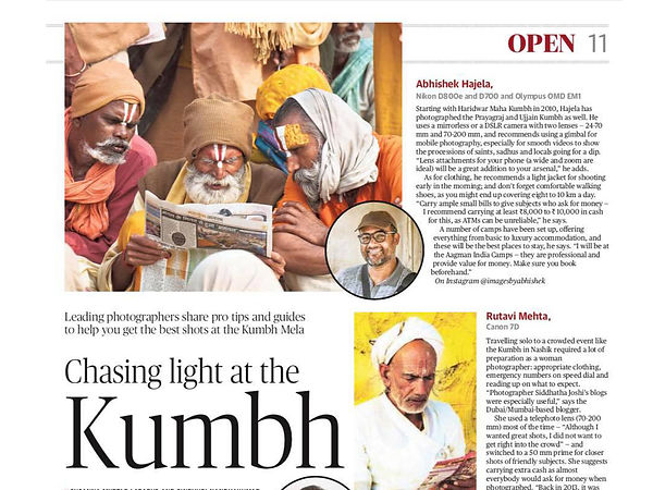 The Hindu Newspaper; Kumbh Mela Article; January 2019