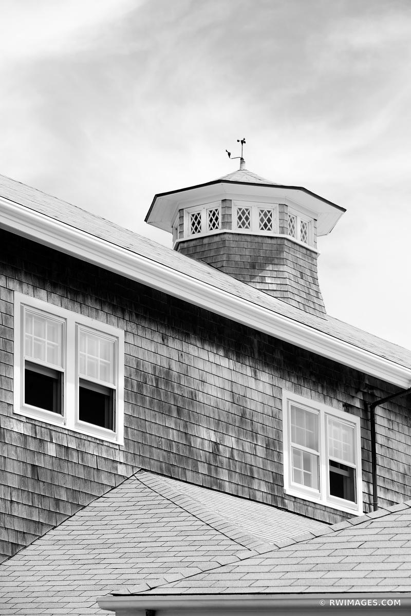 NANTUCKET TOWN ARCHITECTURE BLACK AND WHITE VERTICAL