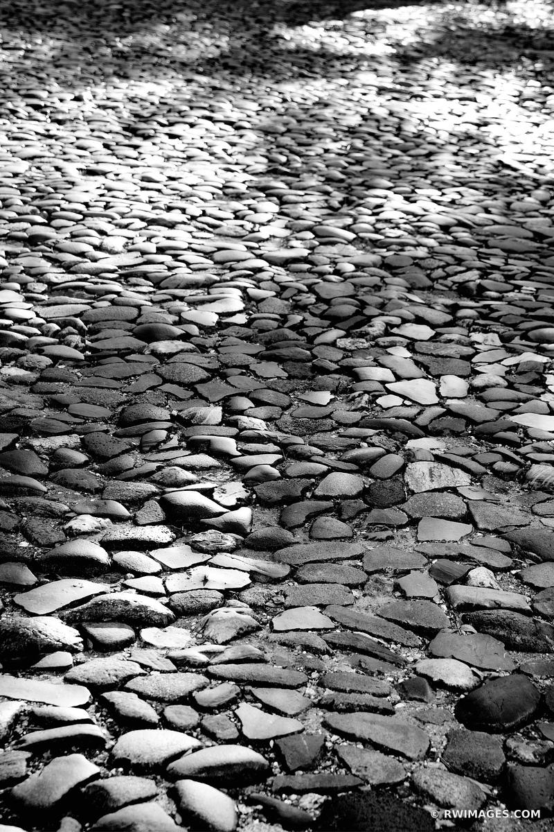 COBBLESTONES RIVERWALK AREA HISTORIC SAVANNAH GEORGIA BLACK AND WHITE VERTICAL