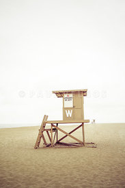 Newport Beach Lifeguard Tower W Wedge Photo