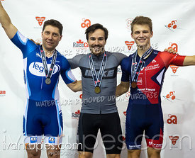 Scratch Race Podium. Track Ontario Cup #3, February 8, 2020