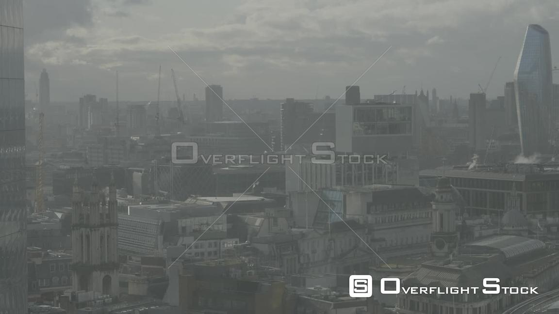 Static City Center View from 17th Floor Dowtown London England DLog for Post