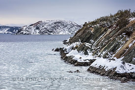 Seascape in Winter at English Harbour, Newfoundland