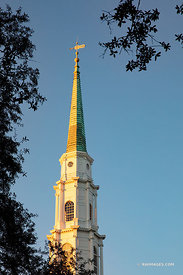 INDEPENDENT PRESBYTERIAN CHURCH STEEPLE HISTORIC SAVANNAH GEORGIA