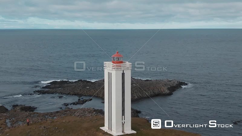 A Lighthouse by the Sea in West Iceland