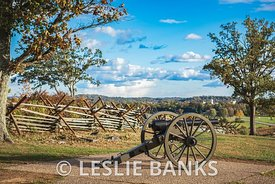 Cannon at Oak Hill at Gettysburg National Military Park
