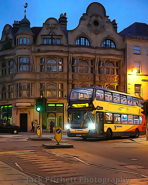 Double-decker bus in Oxford