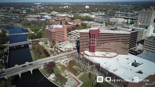 Downtown Flint Michigan During Covid-19 Pandemic Lockdown