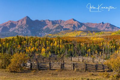 Mount Sneffels Corral, Doube RL Ranch, Ridgway, Colorado