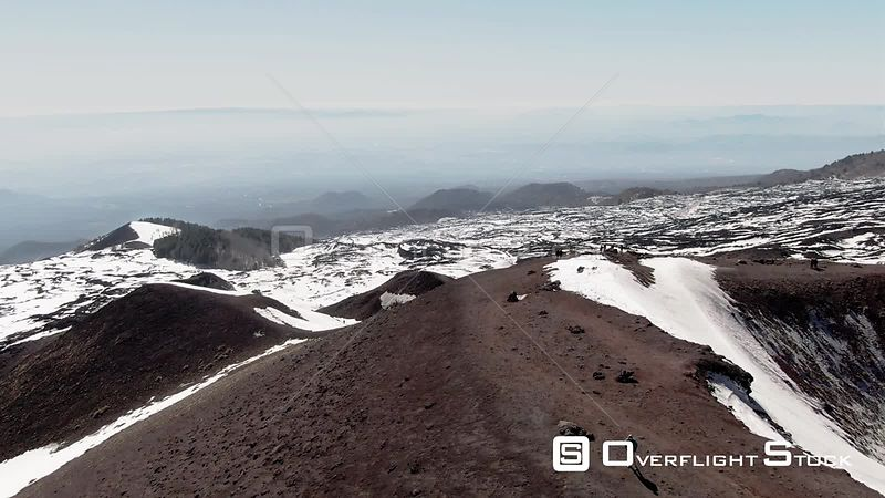 A Small Volcanic Crater on Mount Etna in Sicily Italy