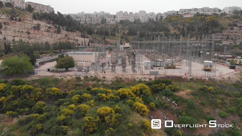 Aerial View of Power Station in Jerusalem Israel