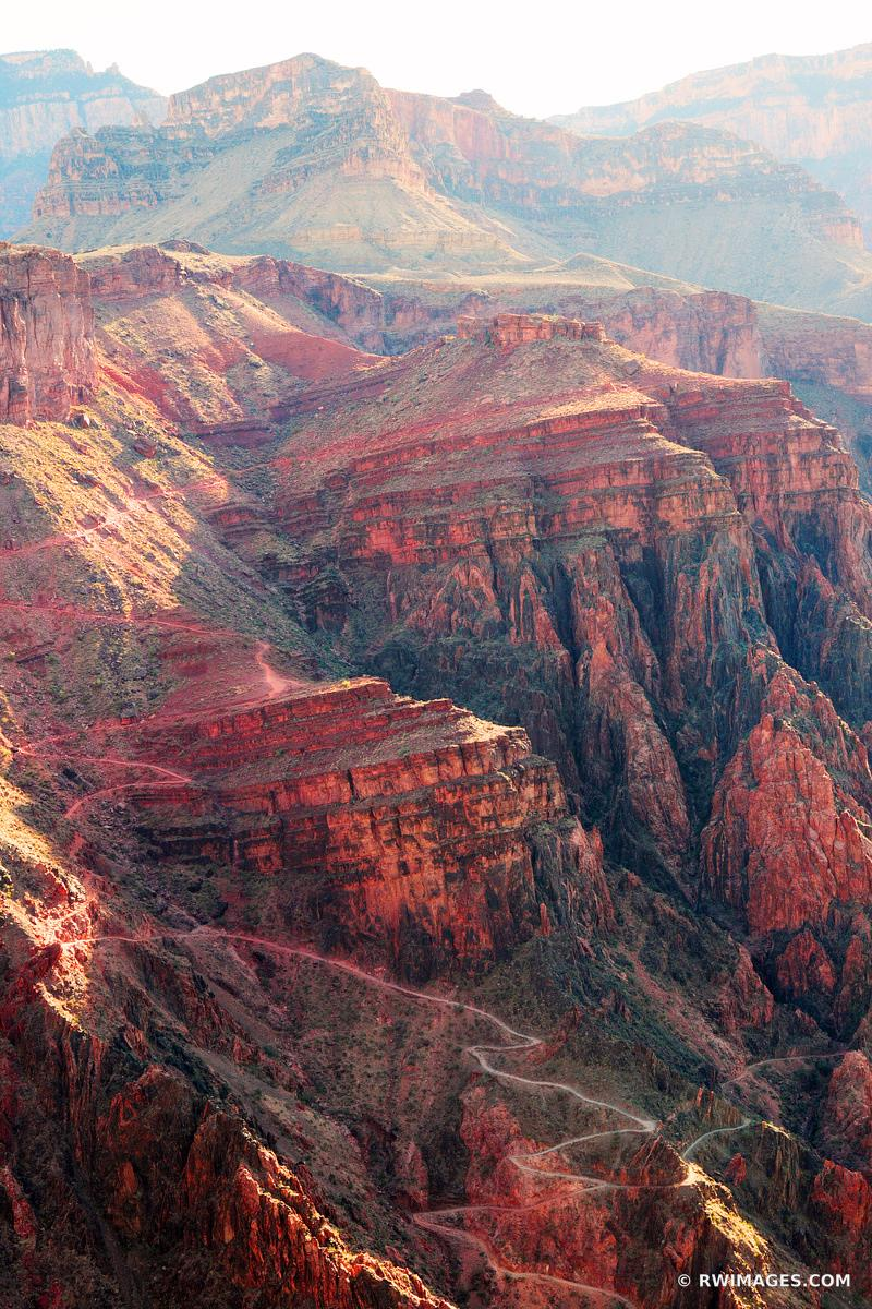 SOUTH KAIBAB TRAIL GRAND CANYON ARIZONA COLOR VERTICAL
