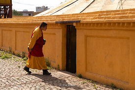 Monks at Gandantegchinlen Monastery, Monglia's largest functioning Buddhist monastery in Ulaanbaatar.  The Tibetan name trans...